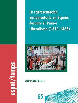 LA REPRESENTACIÓN PARLAMENTARIA EN ESPAÑA DURANTE EL PRIMER LIBERALISMO (1810-18