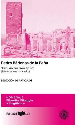 PEDRO BÁDENAS DE LA PEÑA (SABIO COMO TE HAS VUELTO)