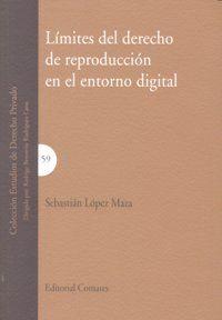 LIMITES DEL DERECHO DE REPRODUCCION EN EL ENTORNO DIGITAL. 48296