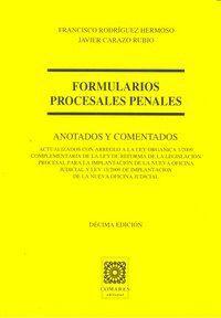 FORMULARIOS PROCESALES PENALES 10ªED