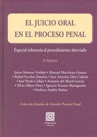 JUICIO ORAL EN EL PROCESO PENAL,EL 2ªED