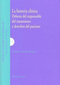 HISTORIA CLINICA DEBERES DEL RESPONSABLE DEL TRATAMIENTO