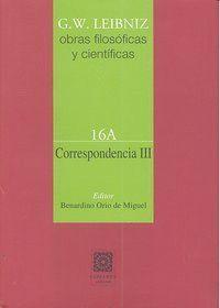 CORRESPONDENCIA III (VOL.16A)