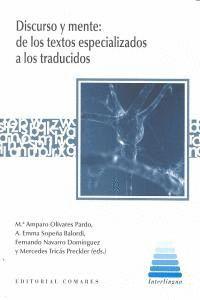DISCURSO Y MENTE DE TEXTOS ESPECIALIZADOS A LOS TRADUCIDOS