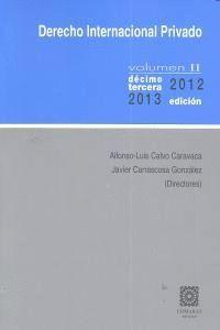 DERECHO INTERNA.PRIVADO V.II 13ª 2012-2013