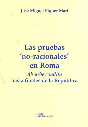 LAS PRUEBAS NO-RACIONALES EN ROMA