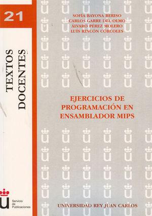 EJERCICIOS DE PROGRAMACIÓN EN ENSAMBLADOR MIPS