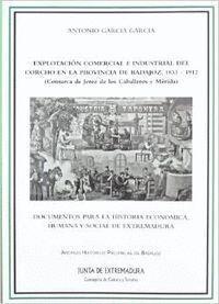 EXPLOTACIÓN COMERCIAL E INDUSTRIAL DEL CORCHO EN LA PROVINCIA DE BADAJOZ