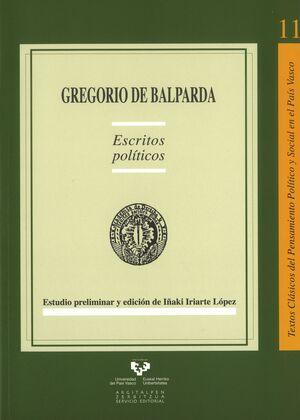 GREGORIO DE BALPARDA. ESCRITOS POLÍTICOS