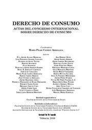 DERECHO DE CONSUMO