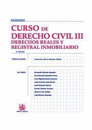 CURSO DE DERECHO CIVIL III DERECHOS REALES Y REGISTRAL INMOBILIARIO