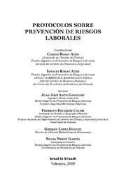 PROTOCOLOS SOBRE PREVENCION DE RIESGOS LABORALES GESTION DOCUMENTAL, EMERGENCIAS, CONSTRUCCION Y TRA
