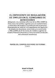 EXPEDIENTE DE REGULACION DE EMPLEO EN EL CONCURSO DE ACREEDORES, EL