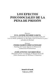 EFECTOS PSICOSOCIALES DE LA PENA DE PRISION, LOS