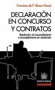 DECLARACION EN CONCURSO Y CONTRATOS RESOLUCION SIN INCUMPLIMIENTO E INCUMPLIMIENTO SIN RESOLUCION