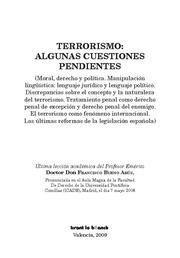TERRORISMO ALGUNAS CUESTIONES PENDIENTES