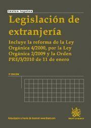 LEGISLACION DE EXTRANJERIA INCLUYE LA REFORMA DE LA LEY ORGANICA 4/2000, POR LA LEY ORGANICA 2/2009