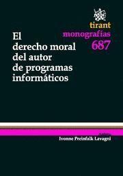 DERECHO MORAL DEL AUTOR DE PROGRAMAS INFORMATICOS, EL