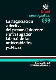NEGOCIACION COLECTIVA DEL PERSONAL DOCENTE E INVESTIGADOR LABORAL DE LAS UNIVERSIDADES PUBLICAS, LA