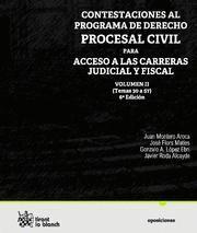 CONTESTACIONES AL PROGRAMA DE DERECHO PROCESAL CIVIL, PARA ACCESO A LAS CARRERAS JUDICIAL Y FISCAL,