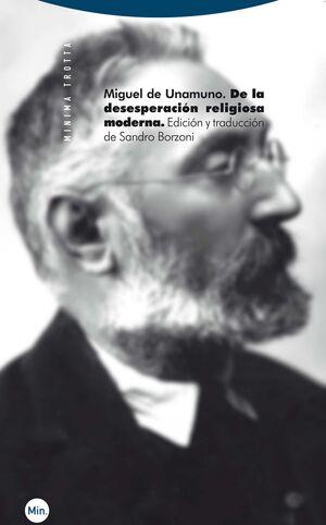 DE LA DESESPERACIÓN RELIGIOSA MODERNA