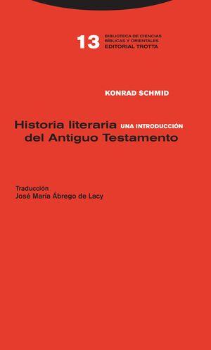 HISTORIA LITERARIA DEL ANTIGUO TESTAMENTO