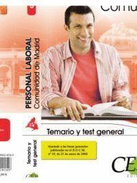TEMARIO Y TEST GENERAL PERSONAL LABORAL DE LA COMUNIDAD DE MADRID GRUPO III