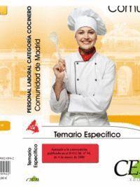 TEMARIO ESPECFICO PERSONAL LABORAL DE LA COMUNIDAD DE MADRID. CATEGORA COCINERO (GRUPO III)