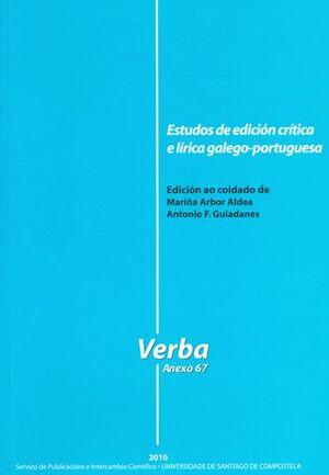 ESTIDOS DE EDICIÓN CRÍTICA E LÍRICA GALAICO-PORTUGUESA