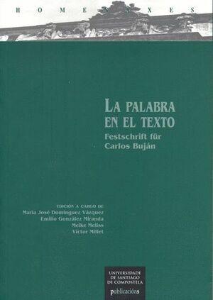 LA PALABRA EN EL TEXTO