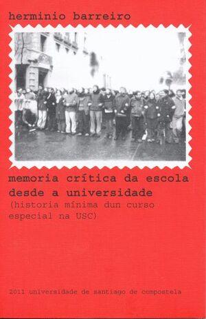 MEMORIA CRÍTICA DA ESCOLA DESDE A UNIVERSIDADE