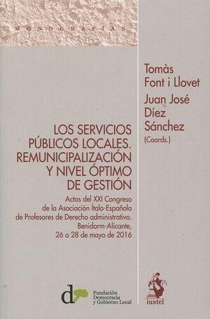 LOS SERVICIOS PÚBLICOS LOCALES