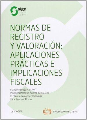 NORMAS DE REGISTRO Y VALORACIÓN: APLICACIONES PRÁCTICAS E IMPLICACIONES FISCALES