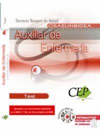 AUXILIAR DE ENFERMERA PARA EL SERVICIO NAVARRO DE SALUD-OSASUNBIDEA. TEST