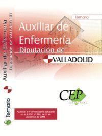 AUXILIAR DE ENFERMERA DIPUTACIÓN DE VALLADOLID. TEMARIO