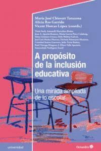 A PROPÓSITO DE LA INCLUSIÓN EDUCATIVA