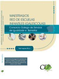 MAESTRAS/OS RED DE ESCUELAS INFANTILES (GALESCOLAS) DEL CONSORCIO GALEGO DE SERVIZOS DA IGUALDADE E BENESTAR. TEST