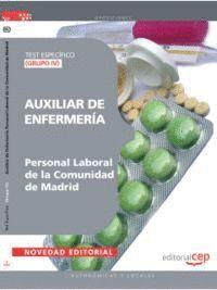 AUXILIAR DE ENFERMERÍA (GRUPO IV) PERSONAL LABORAL DE LA COMUNIDAD DE MADRID. TEST ESPECÍFICO