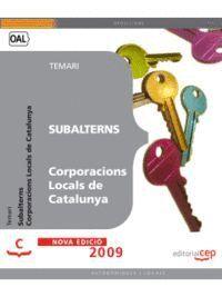 SUBALTERNS CORPORACIONS LOCALS DE CATALUNYA. TEMARI