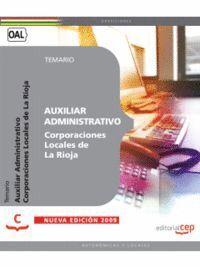 AUXILIAR ADMINISTRATIVO CORPORACIONES LOCALES DE LA RIOJA. TEMARIO
