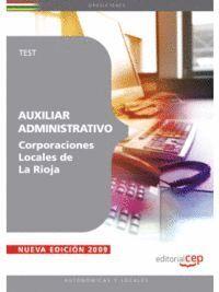 AUXILIAR ADMINISTRATIVO CORPORACIONES LOCALES DE LA RIOJA. TEST