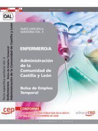 ENFERMERO/A DE LA ADMINISTRACION DE CASTILLA Y LEON. BOLSA DE EMPLEO TEMPORAL. PARTE ESPECIFICA SANI