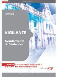 VIGILANTE DEL AYUNTAMIENTO DE SANTANDER. TEMARIO