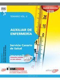 AUXILIAR DE ENFERMERA SERVICIO CANARIO DE SALUD. TEMARIO VOL. II.