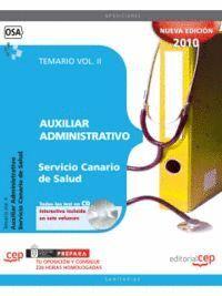 AUXILIAR ADMINISTRATIVO DEL SERVICIO CANARIO DE SALUD. TEMARIO VOL. II.