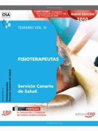 FISIOTERAPEUTAS DEL SERVICIO CANARIO DE SALUD. TEMARIO VOL. III.