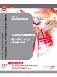 ADMINISTRATIVO DEL AYUNTAMIENTO DE MADRID (PROMOCIÓN INTERNA). TEMARIO