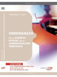 ORDENANZAS DE LA AGENCIA ESTATAL DE LA ADMINISTRACIÓN TRIBUTARIA. TEMARIO Y TEST
