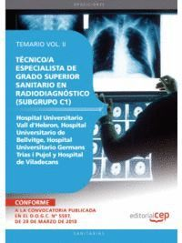 TÉCNICO/A ESPECIALISTA GRADO SUPERIOR SANITARIO EN RADIODIAGNÓSTICO (SUBGRUPO C1) CENTROS HOSPITAL UNIVERSITARIO VALL D'HEBRON, HOSPITAL UNIVERSITARIO