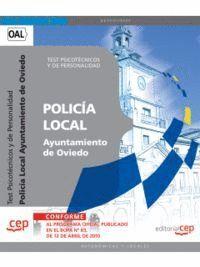 POLICÍA LOCAL DEL AYUNTAMIENTO DE OVIEDO. TEST PSICOTÉCNICOS Y DE PERSONALIDAD